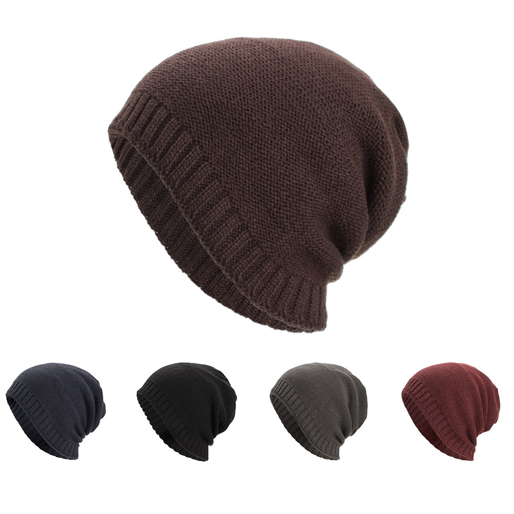 21f880d5f58 KANCOOLD Unisex Women Men Warm Baggy Weave Crochet Winter Thick Wool Knit  Stylish Ski Skullies Beanie Skull Caps Hats PJ0821