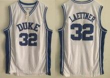 e816861ec482  32 basketball jerseys 2018 NEW  32 Christian Laettner Duke University  White Retro Basketball Jersey