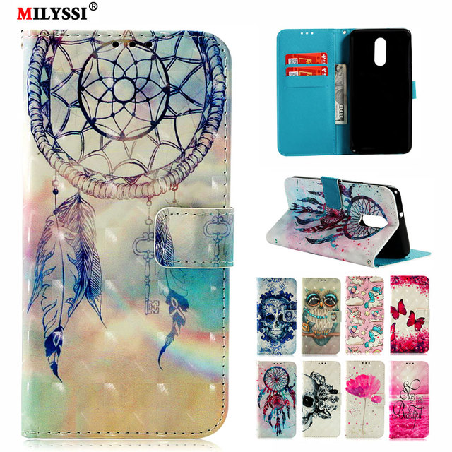 best loved 09c45 3605a US $2.99 9% OFF|MILYSSI Leather Flip Case For LG Stylo 4 Style 4 Cover 3D  Vision Painted Flip Wallet Case For LG Stylo 4 Style 4 Cover-in Wallet  Cases ...