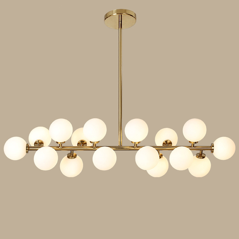 Modern led chandelier light fitting 16 led lights bubble chandelier restaurant hanging lamp pendant suspension drop lighting in pendant lights from lights