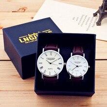 Для мужчин часы Элитный бренд тонкий полный кожа простой элегантный Водонепроницаемый качество часы пара влюбленных Кварцевые Бизнес Наручные часы