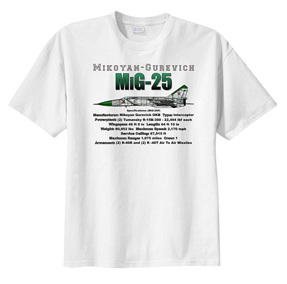 Men'S Mikoyan-Gurevich Mig-25 Short Sleeve T-Shirt 2019 Funny Cotton Casual Top Tee Printed Tops Tee
