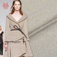 Французский стиль Роскошная шерстяная одежда для зимнего пальто хаки трикотажная шерстяная ткань tissu tecidos telas SP5597 Бесплатная доставка