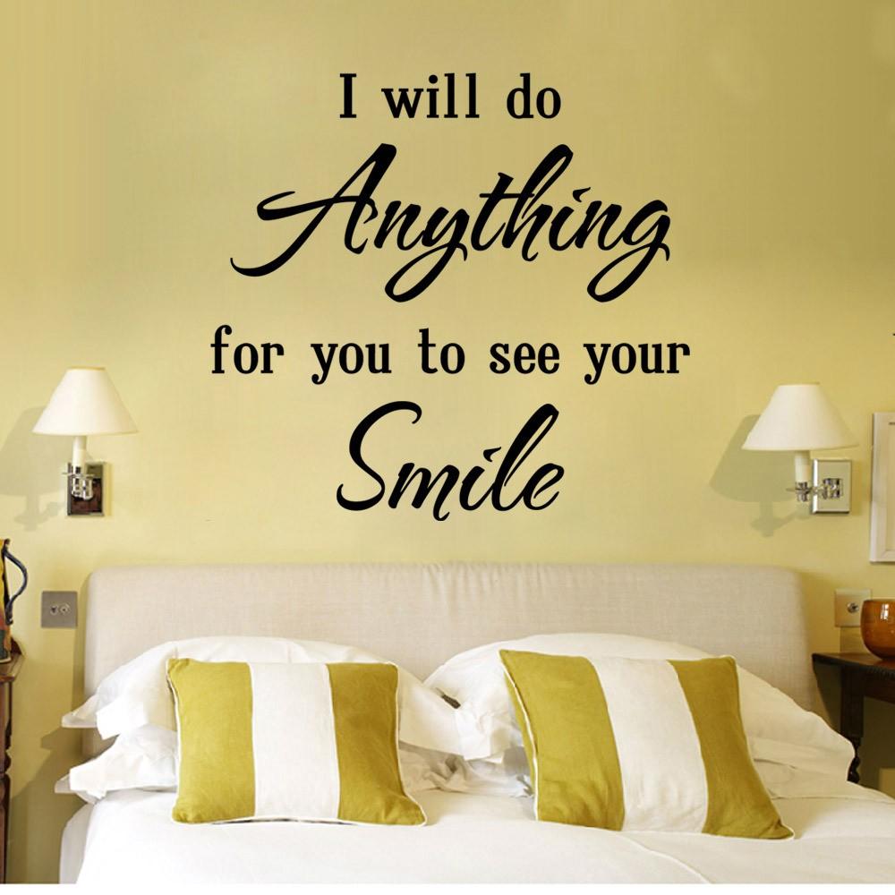 Free shiping English proverbs Love quote wall post diy creative ...