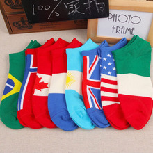 Socks Flag pattern women men ankle socks hosiery comfortable meias Cotton Unisex calcetines