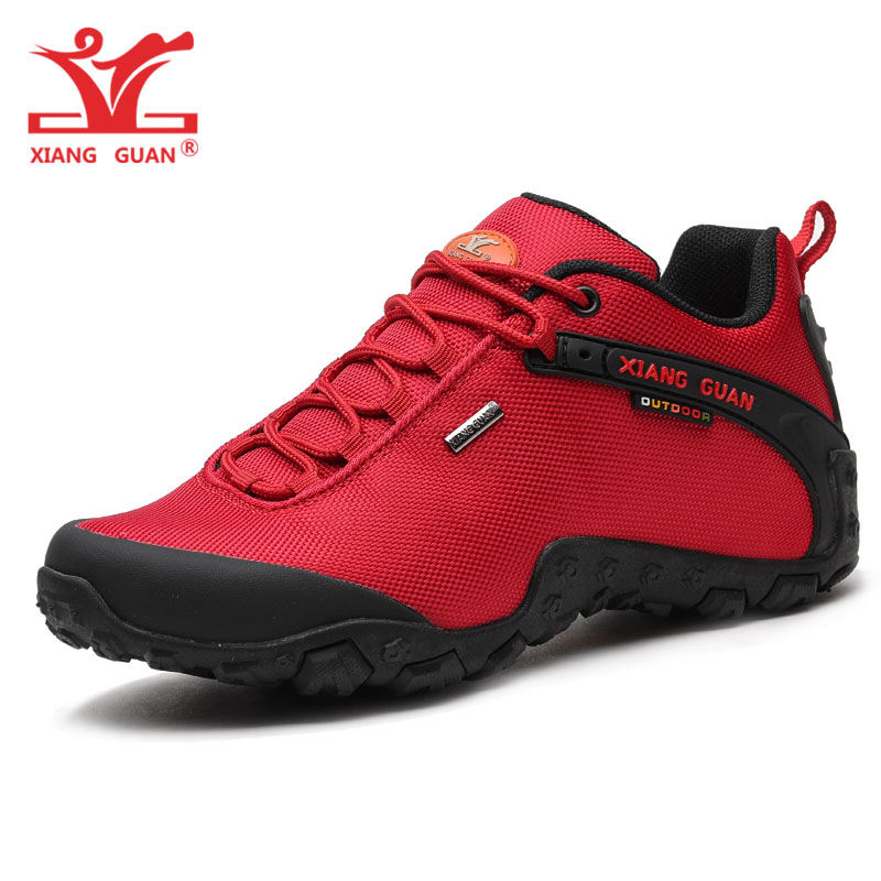 XIANG GUAN Woman Hiking Shoes for Women Waterproof Trekking Boots Red Breathable Sports Climbing Shoe Outdoor Walking Sneakers цена