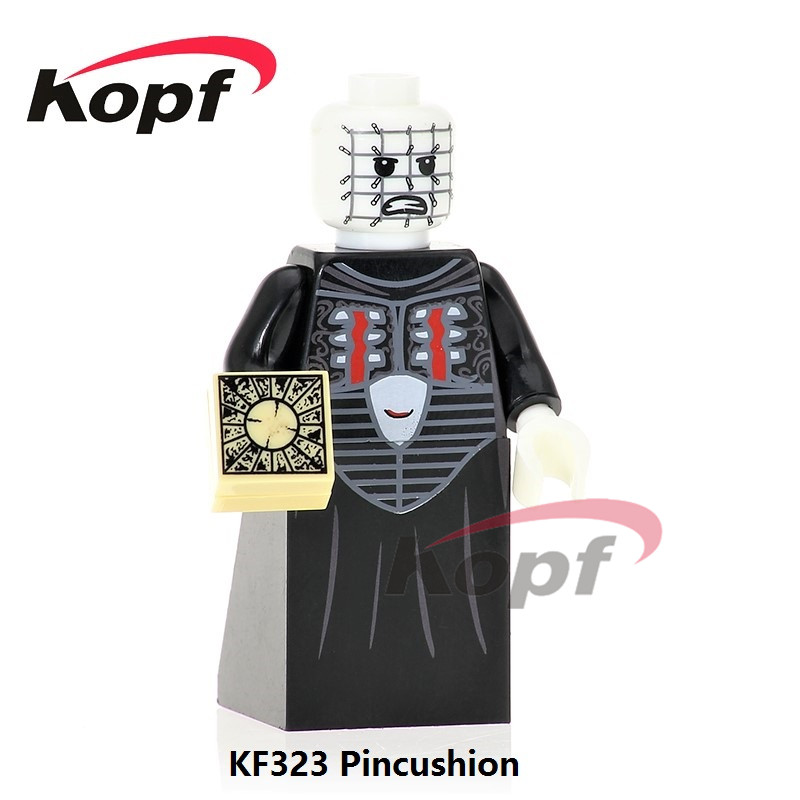 Single Sale KF8007 The Horror Theme Movie Building Blocks Candyman Pincushion Leartherface Michael Ring Myers Toys for children