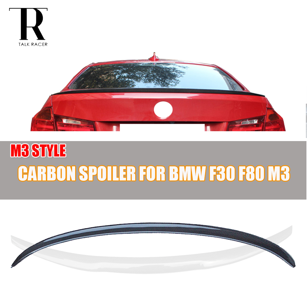 M3 Style F80 F30 Carbon Fiber Rear Spoiler for BMW F80 M3 F30 320i 328i 330i 335i 320d 325d 328d 2012 - 2016 Rear Lip Wing yandex w205 amg style carbon fiber rear spoiler for benz w205 c200 c250 c300 c350 4door 2015 2016 2017