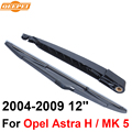 Qeepei traseiro limpa e braço para opel astra h/mk 5 portas hatchback 2004-2009 12 ''natural borracha rop06-3c