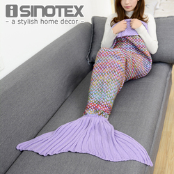 180x90cm Large Size mermaid blanket Handmade Crochet Sea Maid Tail Blanket Colorful Kids Throw Super Soft