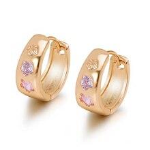 MxGxFam разноцветные циркониевые серьги-кольца цветок для женщин золотой цвет AAA+ кубический циркон новые ювелирные изделия