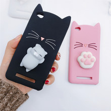 3D Japan Cute Cartoon Beard Cat Squishy Phone Cases For Xiaomi Redmi Note 5A 5 Pro 3 4 4X Cover Redmi 5A 4A Silicone Cases Coque(China)