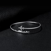 Sterling Silver Airplane Design Bracelet For Women