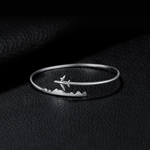 Airplane Sterling Silver Bracelet