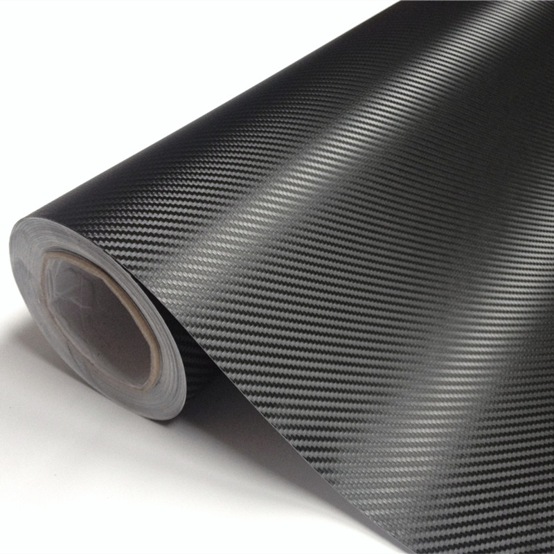 High Quality Black 3D Carbon Fiber Foil Vinyl Wrapping Air Free Bubble Car Styling Size:1.52X30M/Roll high quality apple green carbon fiber film vinyl car sticker for car wrapping with air bubble free fedex free shipping 30m roll