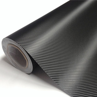 High Quality Black 3D Carbon Fiber Foil Vinyl Wrapping Air Free Bubble Car Styling Size 1