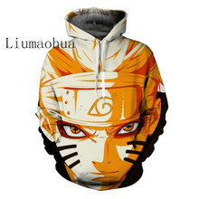 Liumaohua2018Newการ์ตูนUzumaki Naruto/Sasuke 3d Anime Hoodieเสื้อผู้ชายผู้หญิงแขนยาวแบบสบายๆดึง