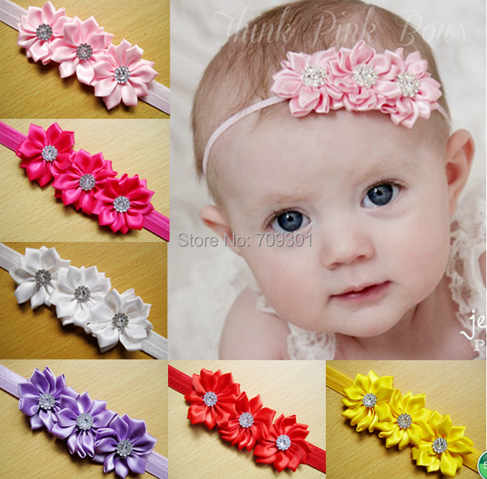 Aliexpress.com Comprar Cinta del satén florece recién nacido diademas  diademas toddle vendas niños accesorios para el cabello de hair accessories  bridal