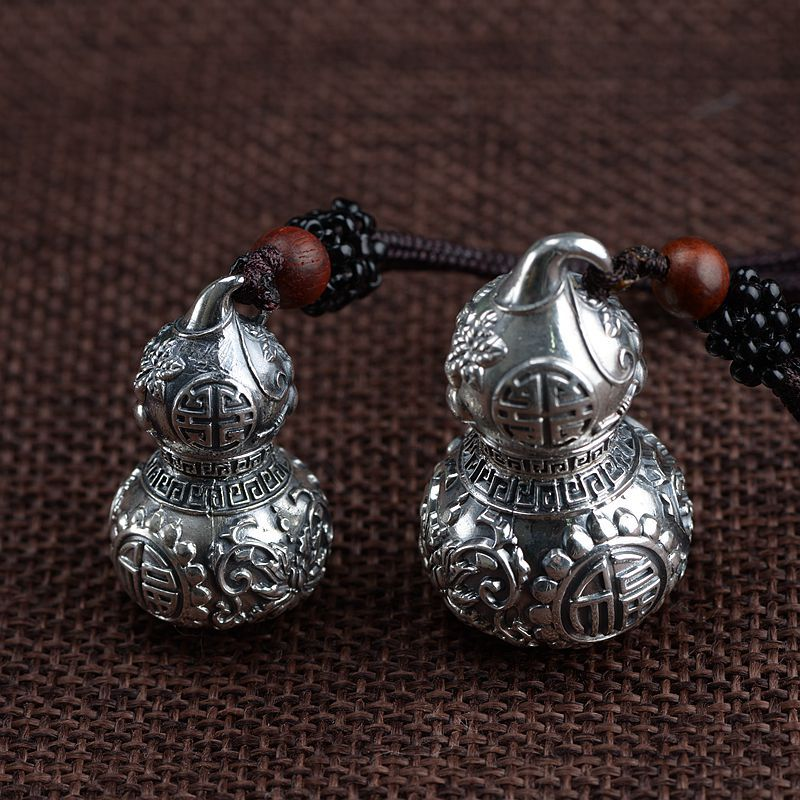 S990 silver pendant silver gourd pendant antique craft couple models open silver pendantS990 silver pendant silver gourd pendant antique craft couple models open silver pendant