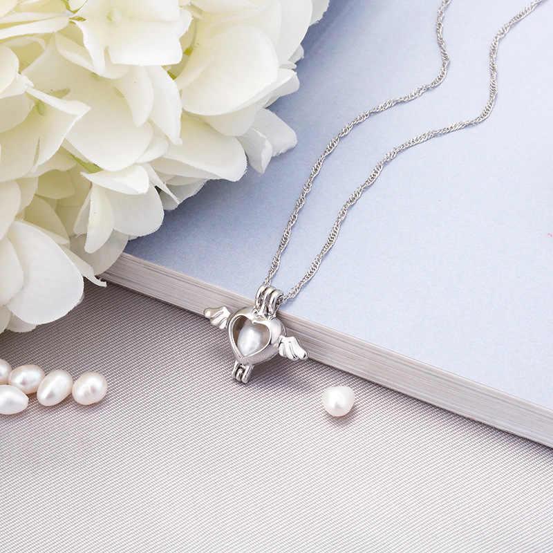 Груша клетка Сердце ожерелье с крыльями кулон аксессуары эфирные масла медальон со светорассеивателем для ночного светящегося шара устричная жемчужина Женская девочка