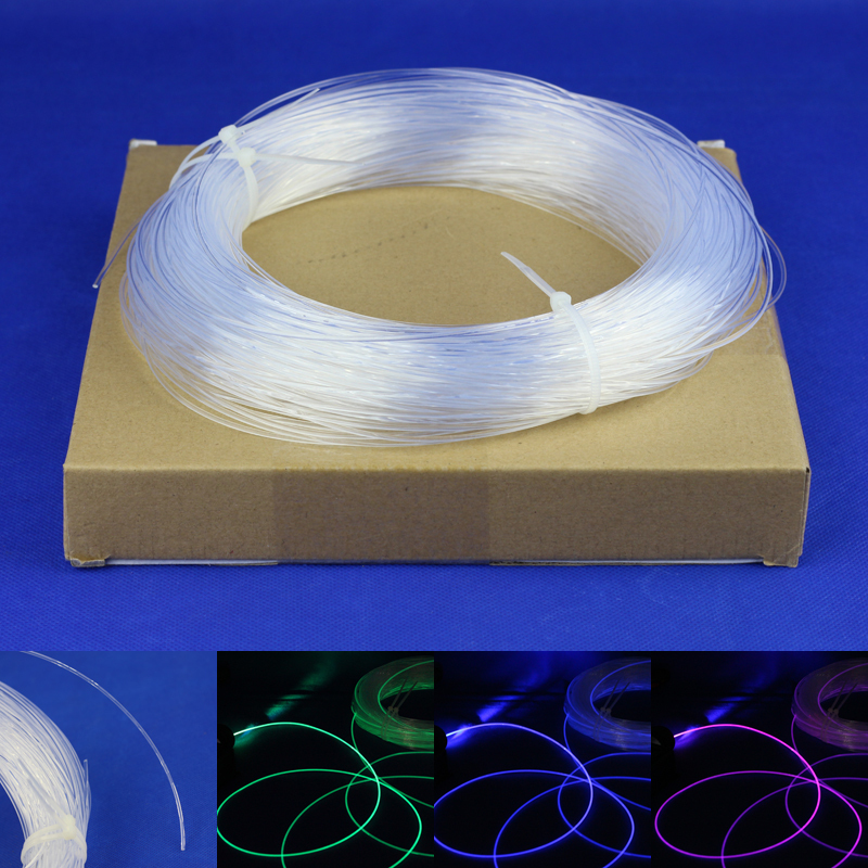 все цены на fiber optic lighting / plastic optical fiber 0.75 mm* 5 m * 300PCS онлайн