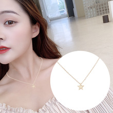 2019 New Women Jewelry Fashion Simple Alloy Joker Stars Moon Pendant Lady Necklace Chain