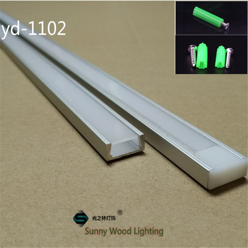 5-30 pcs/lot 1 m 40 inch/pc profilé en aluminium pour bande led, led canal pour 8-11mm de CARTE PCB barre de led logement léger avec pièces de rechange