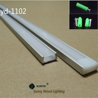 5 30pcs/lot 1m 40inch/pc aluminum profile for led strip,led channel for 8 11mm PCB board led bar light housing with spares