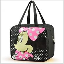 Минни Мышь Сумки для Для женщин сумка Doraemon Сумки для Обувь для девочек сумка Travel Organizer Для женщин Сумки на плечо для Обувь для девочек