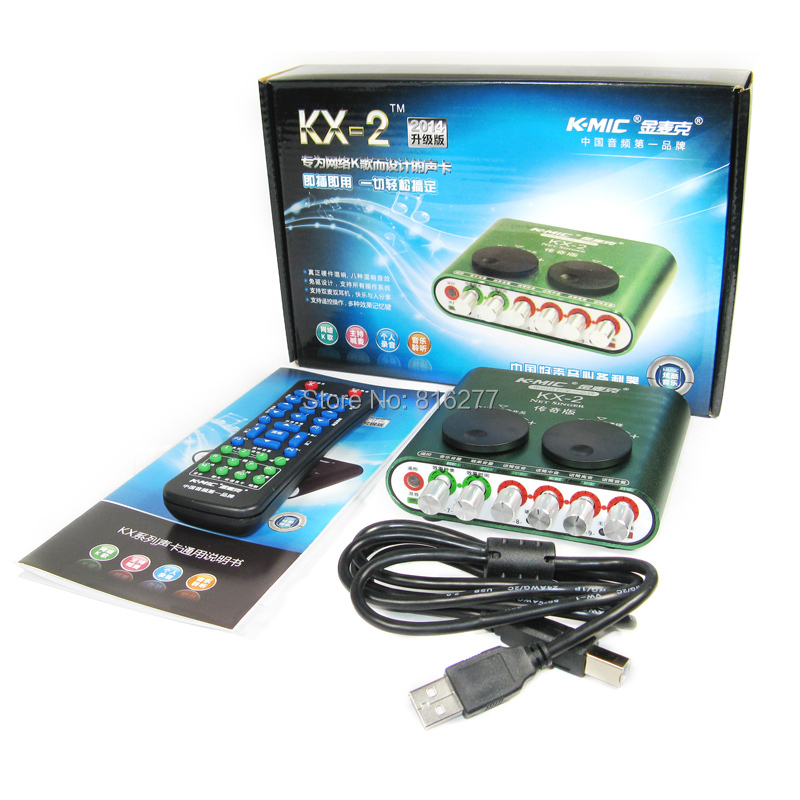K-mic Kx-2 professional usb sound card computer external sound card 5.1 usb audio device audio interface belt