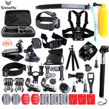 SnowHu for Gopro Accessories set go pro hero 5 4 3 kit mount SJCAM SJ4000 xiaomi yi camera eken h9 tripod GS24