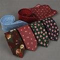 SHENNAIWEI 100% algodón flaco 6 cm floral corbata de alta moda lazos de tela escocesa de los hombres delgados de algodón corbata corbatas para hombre 2016 gravatas