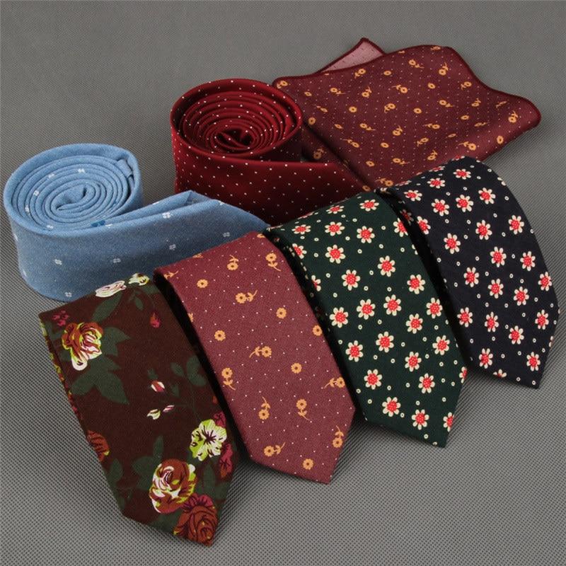 SHENNAIWEI 100% Baumwolle Skinny 6 cm Blume Krawatte hohe florale Krawatten für Männer schlanke Krawatte Krawatten Herren Gravatas Vestidos Wedding