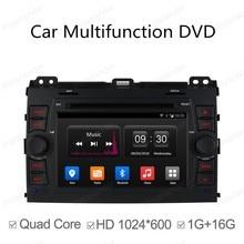 1024*600 Android4.4 Quad Core Car DVD player for Toyota Prado Land Cruiser 120 2002 – 2009 Radio GPS wifi support 3G DAB+