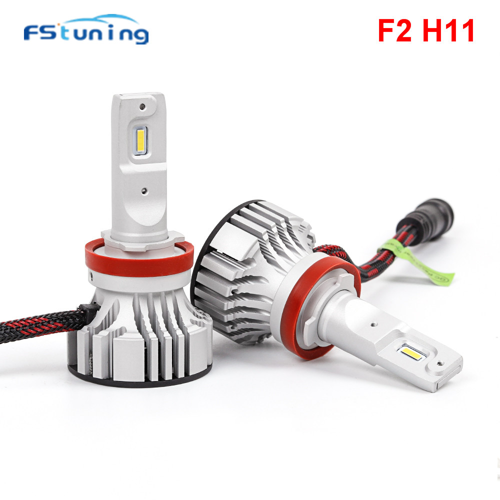 FStuning 12V F2 H7 H11 9005 9006 hb3 hb4 Car LED Headlight bulbs 72W 6000LM 6500k All in one Automobile Headlamp Fog Light bulb free shipping one kit super bright 6000lm car headlight hb3 9005 60w cob led auto front fog bulb automobile headlamp 6000k