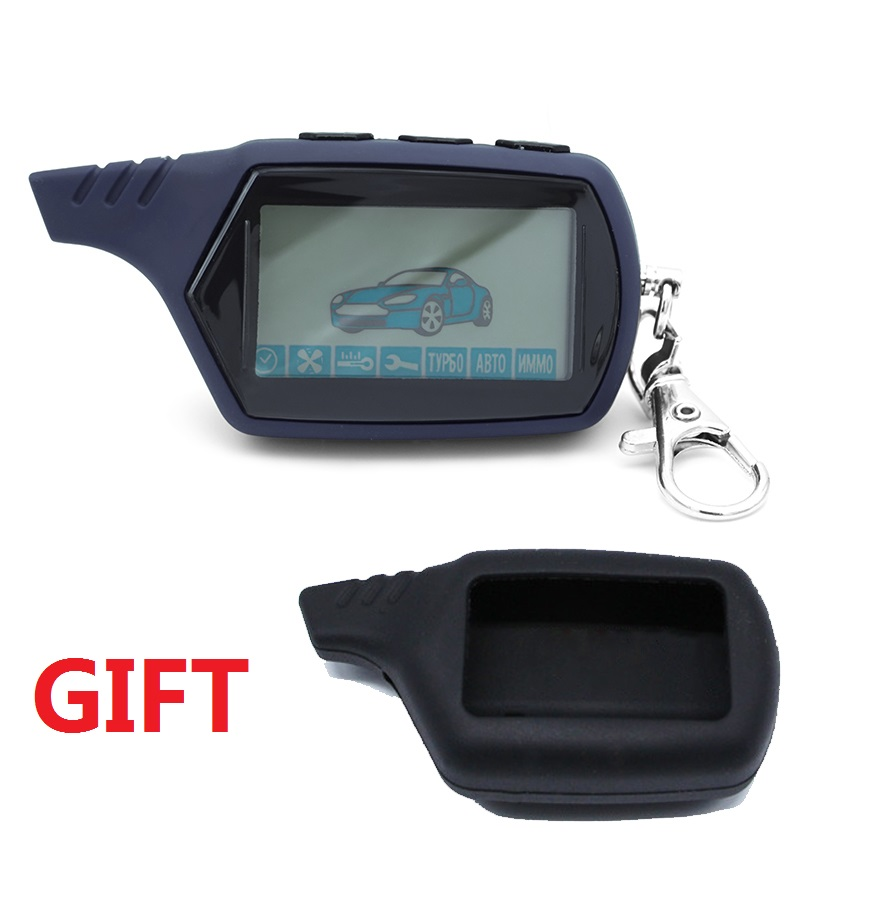 Free Shipping A91 LCD Remote Control For 2 Way Car Alarm Starline 91 Starter Motor Starline A91 Keychain With Alarm / LCD Body