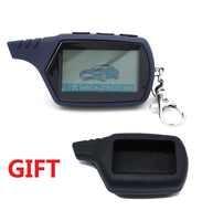 Freies verschiffen A91 LCD fernbedienung für 2 weg auto alarm starline 91 starter motor starline A91 keychain mit alarm /LCD körper