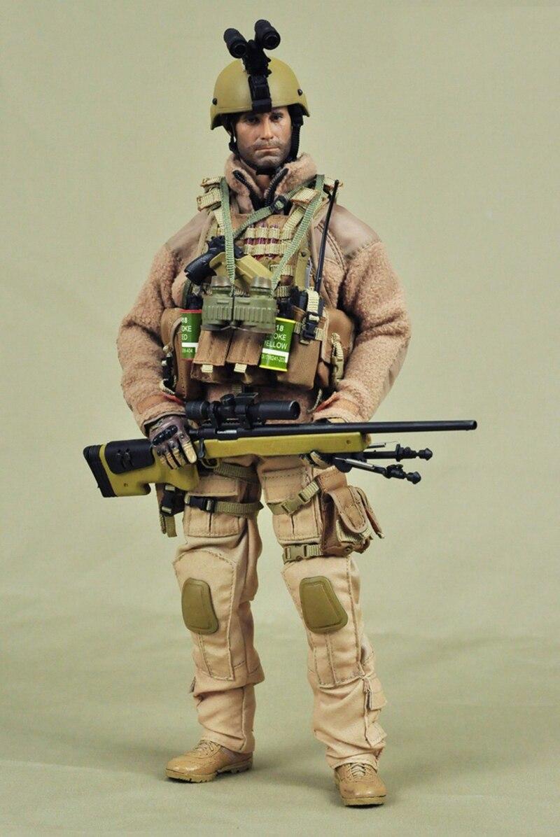 Zielony i piasek 1/6 Shooter snajper najemników ubrania i akcesoria zestaw do 12''Soldiers ciała w Figurki i postaci od Zabawki i hobby na  Grupa 1
