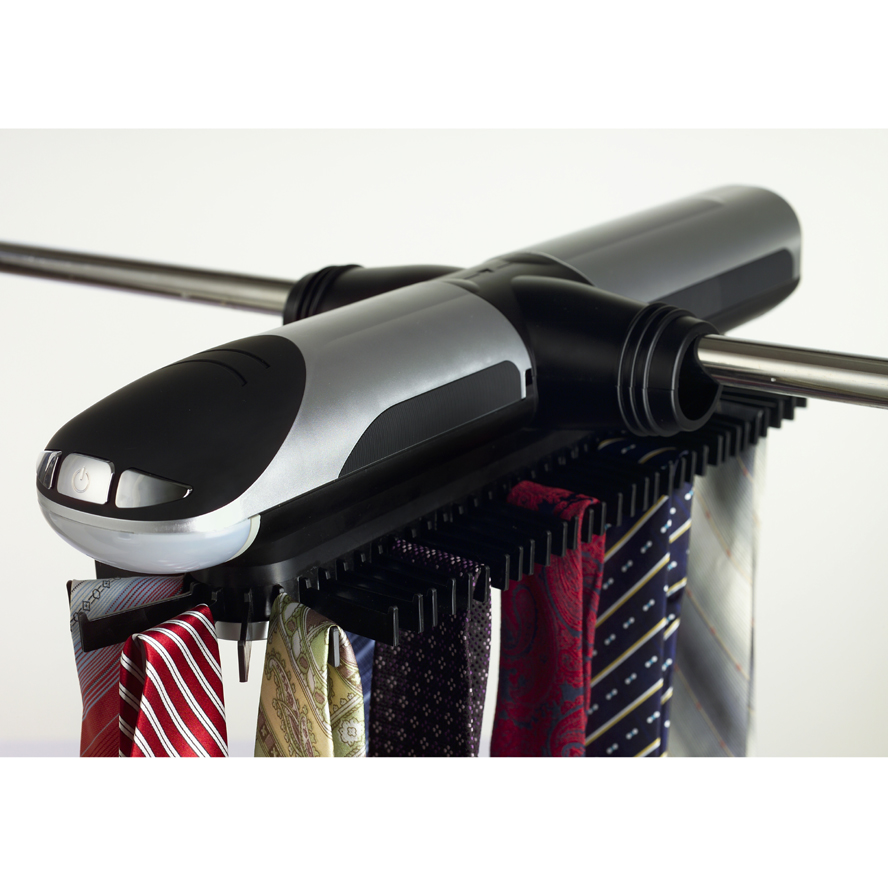 Automatic tie rack built in led lights rotating closet for Motorized tie racks for closets