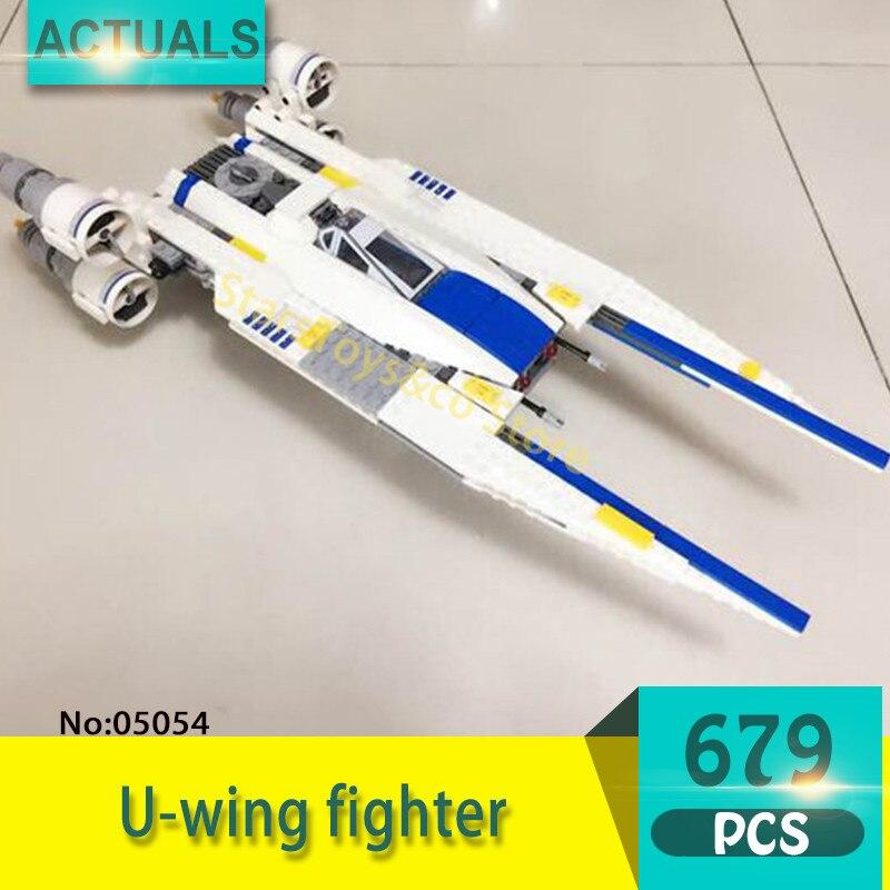 Lepin 05054 679Pcs U-wing fighter Model Building Blocks Set  Bricks Toys For Children Gift 75155  Star Series Wars