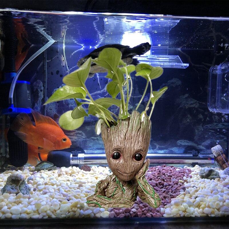 New Design Groot Cartoon Tree Man Aquarium Decoration Fish Tank
