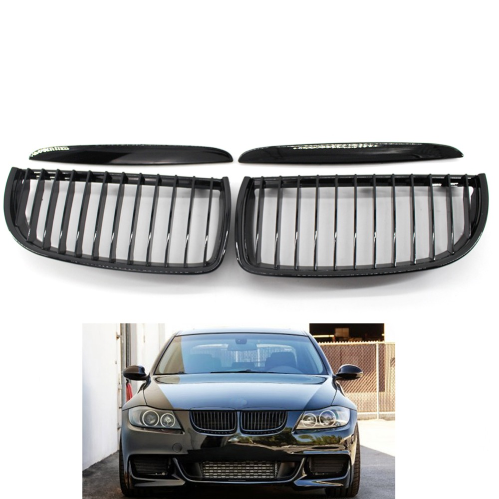 Gloss Front Grille Bumper Hood Grill Grilles For BMW E90 2005 2006 2007 2008 Car Styling