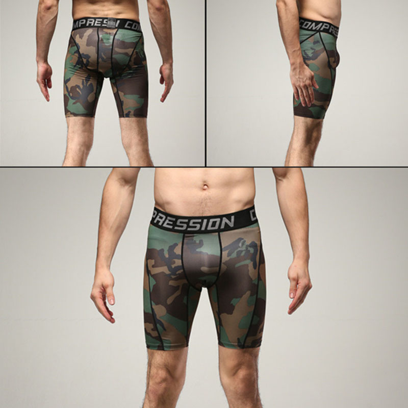 Shorts Compression Camouflage Summer Gym Men Fitness Quick-Drying Running