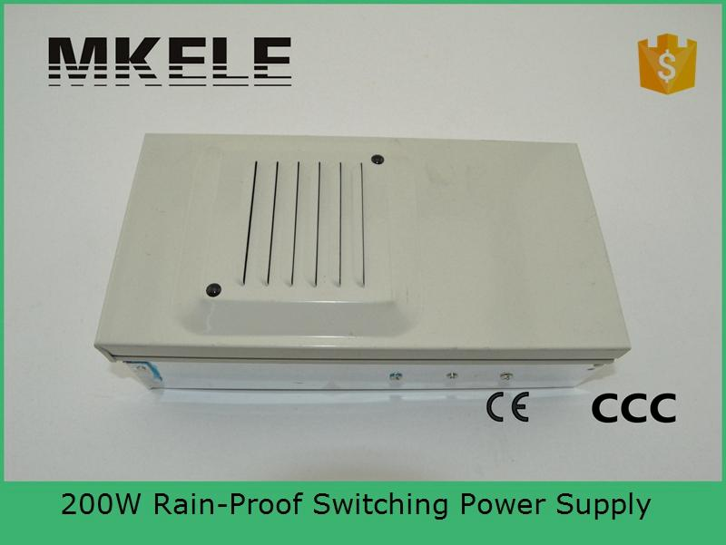 ФОТО CE approved 200w metal case reliable rainproof FY-201-5 40A 201w low price RainProof Regulated Switching Power Supply