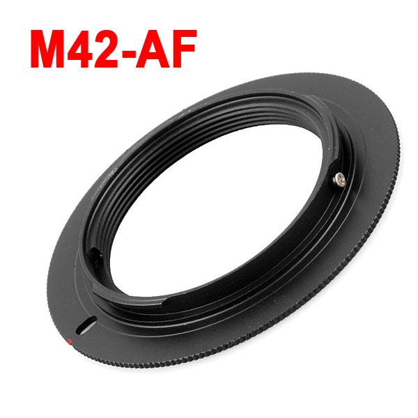Metal M42-AF M42 Thread <font><b>Lens</b></font> to AF Mount <font><b>Lens</b></font> Adapter for <font><b>Sony</b></font> Minolta Alpha a200 <font><b>a350</b></font> A390 A550 A580 A700 A900 DSLR Camera image