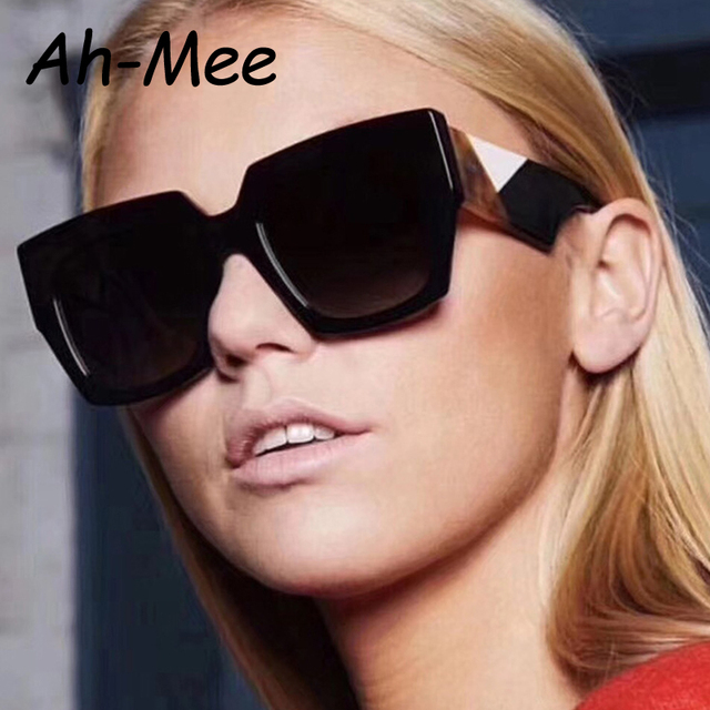 59e421249b Vintage Trendy Square Sunglasses Women Brand Designer 2019 Retro Oversize  Gradient Black White Shades Gafas Female Sun Glasses