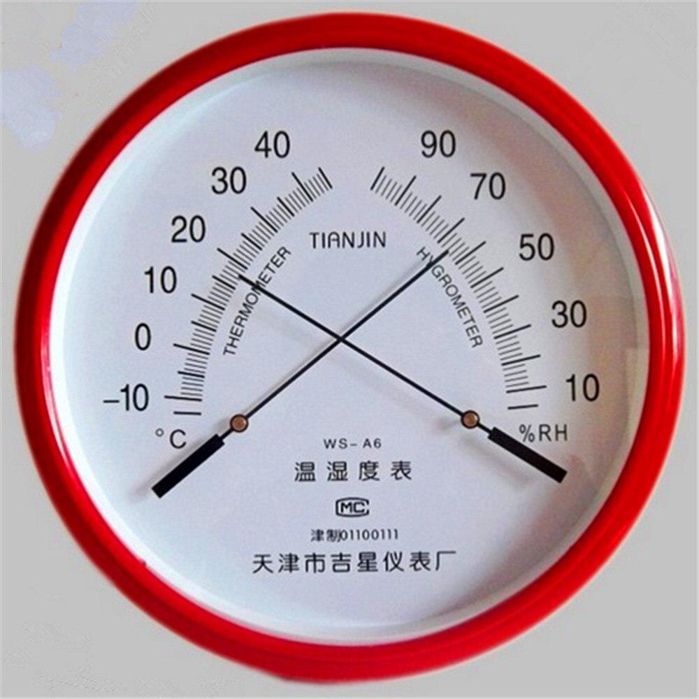 1 Stück Pointer Thermometer Hygrometer Ws-a6 Industrie Hause Apotheken High-precision Wand Hängen Durchmesser: 255mm