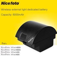 Nicefoto exterior linternas TTL680C 680A clásico 400 HS600 480A680A HS600TTL480C n6 nflash600 batería de litio