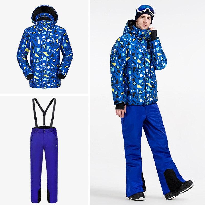 VECTOR marque Ski costume hommes chaud hiver coupe-vent imperméable veste de Ski et pantalon pantalon extérieur neige Snowboard ensemble HXF70012