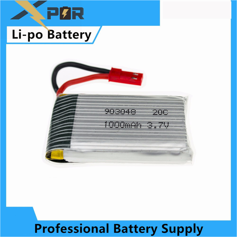1pc rc drone lipo battery 3 7v 1000mah jjrc h11c jst for. Black Bedroom Furniture Sets. Home Design Ideas